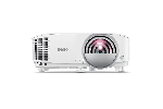 Видеопроектор BenQ MW809STH, DLP, WXGA, 3600 ANSI, 22 000:1, Късофокусен, бял